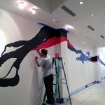 Japanese Style Street Art Mural Installation