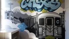 Cases Brooklyn Graffiti in Office - Subway C Train