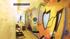 CBS News Graffiti Art at LinkedIn Office