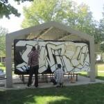 Cleveland Graffiti Art in Progress at CWRU