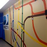 DirecTV Graffiti Art in Hallway
