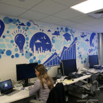 Facebook Office in NY - Graffiti Art Installation