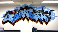 Boomtown Anamorphic Mural- Facebook Graffiti