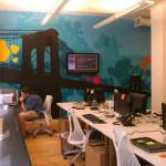 Living Social New York Brooklyn Bridge Office Graffiti