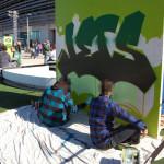 Live Art for Jets Campaign at Metlife Stadium