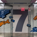 Weber Shandwick Floor 7 Graffiti Art - Elevators