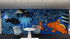Pop Art Corporate Office Mural