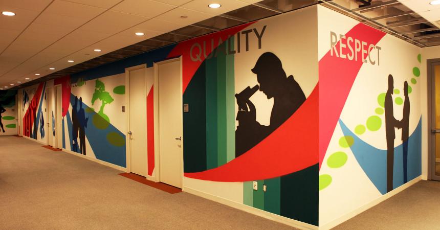 Eisai Corporate Office Pharma Mural Art