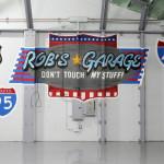 Rob's Garage Graffiti Lettering for Private Client