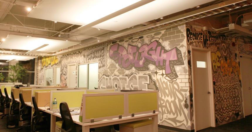 NY Office - Taboola Graffiti Art Design