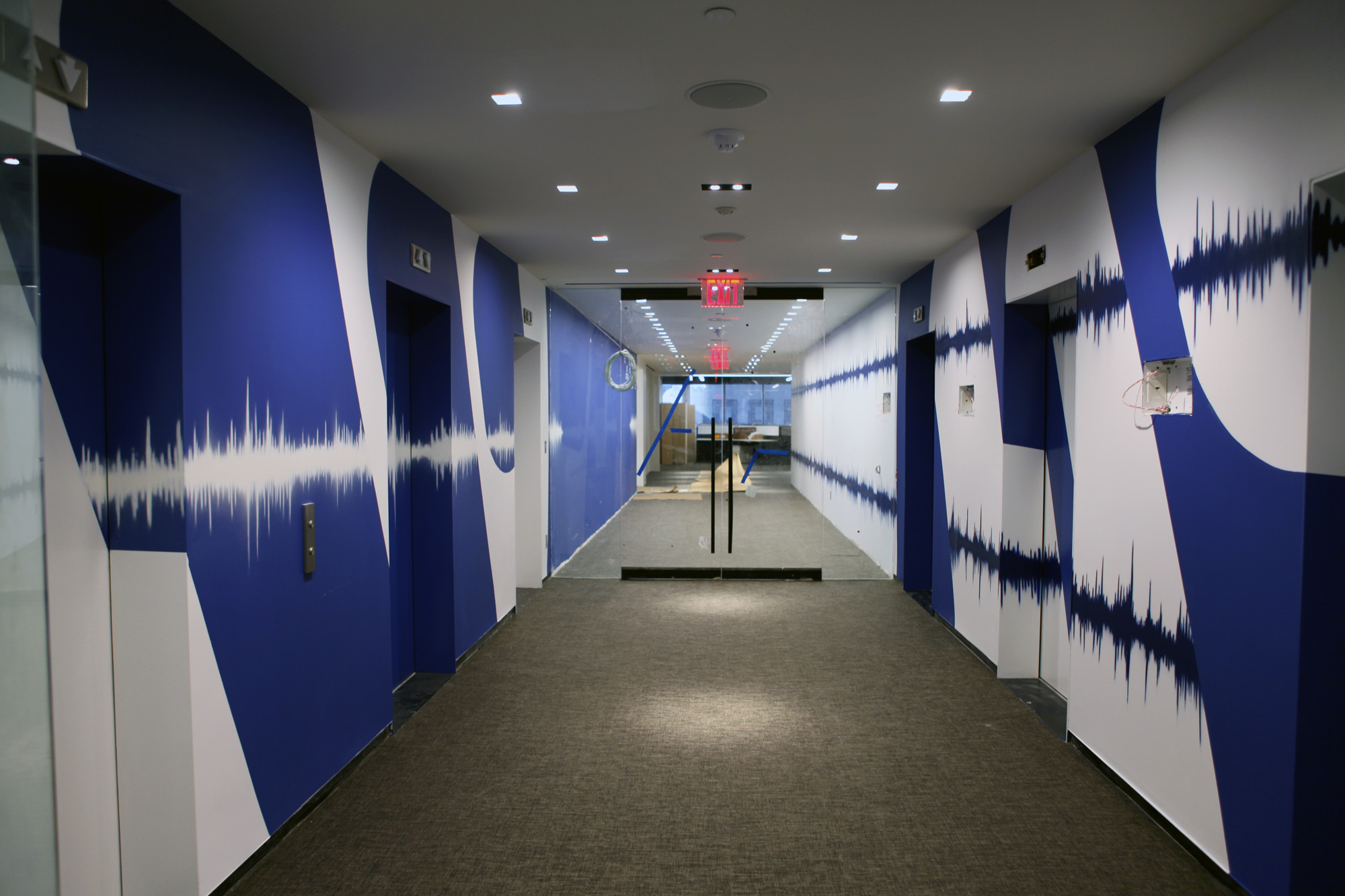 Warner Music Group Office Murals Graffiti Usa