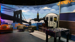Fuse TV WGTS Graffiti Set Design - Subway & Skyline