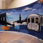 Fuse TV WGTS Graffiti Subway Car Graffiti Art