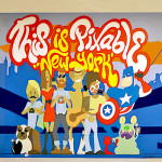 This is Pixable Character Street Art in Office