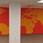 Pixable Corporate Office Map Graffiti Mural