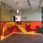 Colorful Art Mural in Loading Dock in Minneapolis