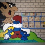 Smurfs Cartoon Graffiti Art in Minneapolis MN