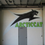 Arctic Cat Graffiti Mural in Minneapolis by Dinky Donalds