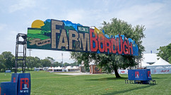 FarmBorough Graffiti Entrance Mural for Festival