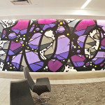 Dom Corry Street Art Mural in Office Lobby in NJ