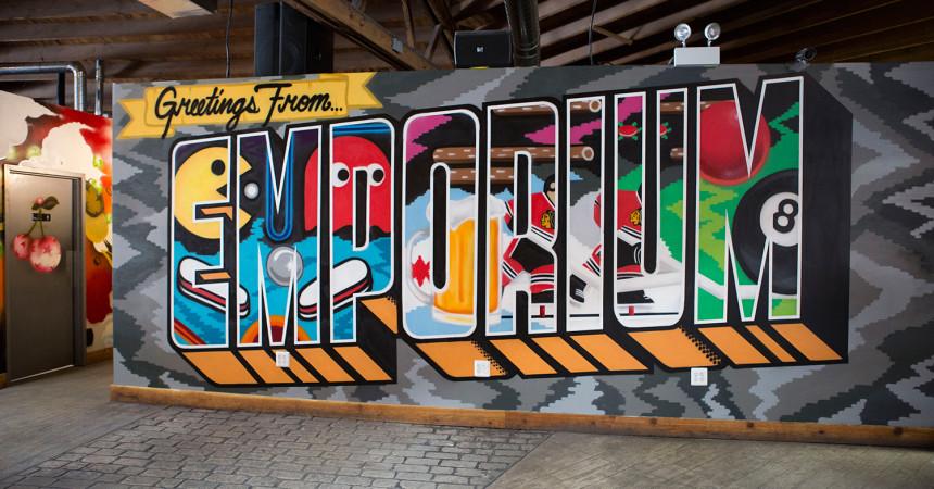 Chicago Graffiti Artist Paints Bar in Logan Square