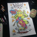 Michaelangelo Graffiti Artwork Nickelodeon LG - Mast
