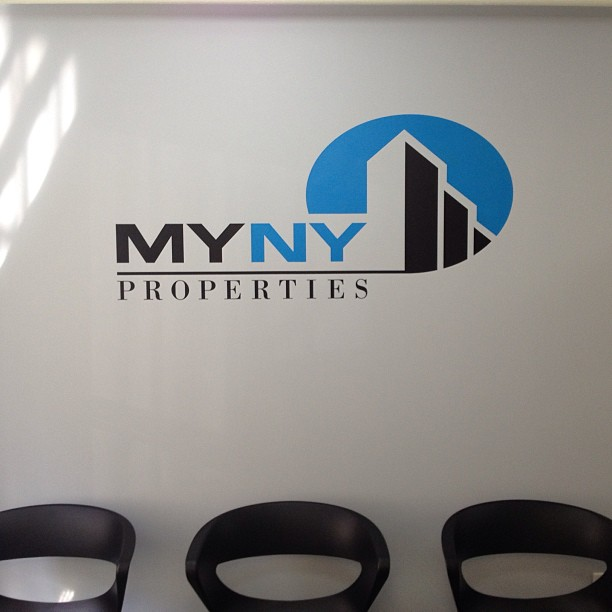 Logo Painting for My NY Properties Office