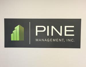 Pine Management Hand Painted Logo