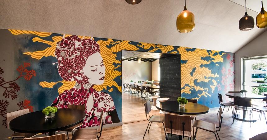 East Hampton Restaurant Mural - Japanese Style Mural