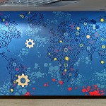 Corporate Mural of Map - Abstract