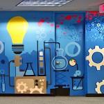 Combe Light Bulb Imagery for Mural