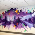Purple Mural Branding for Hyatt Regency in NJ