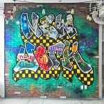 New York Themed Graffiti Mural