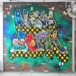 New York Themed Graffiti Mural