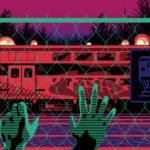 Fence & Train Graffiti Design - Digital