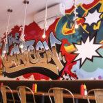 Graffiti Design for Canteen Restaurant