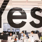 Yes Mural Optical Illusion in NY Office Space
