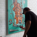 Dcypher Painting Artwork for Airbnb Open 2016