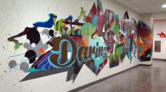 Interior Mural Graffiti Design for RED Hotel