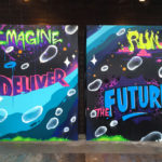 Imagine Deliver Graffiti Canvas Chicago