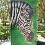 Houston TX Zoo Street Art Zebra Mural