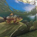 Exterior Mural of Fish in Houston, TX