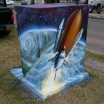 Houston Graffiti of Space Shuttle