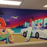 Miami Vice Graffiti Mural Indoors