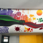 Miami Wine Mural with Color Gradient