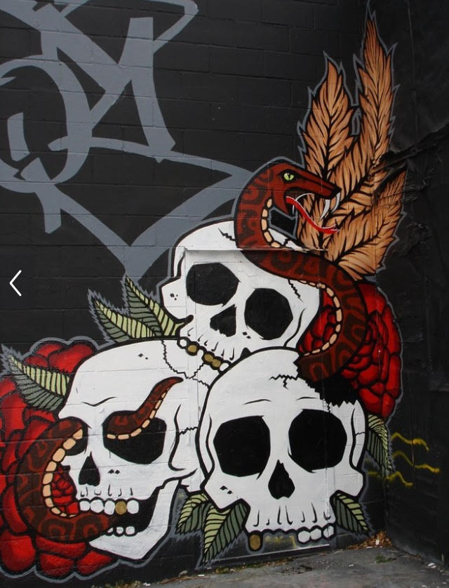 Skull Graffiti in MN