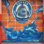 Roll Down Gate Mural for Gerber