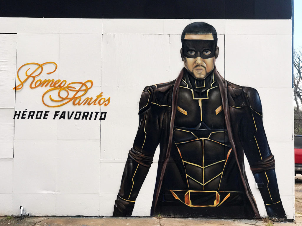Romeo Santos Mural in Houston