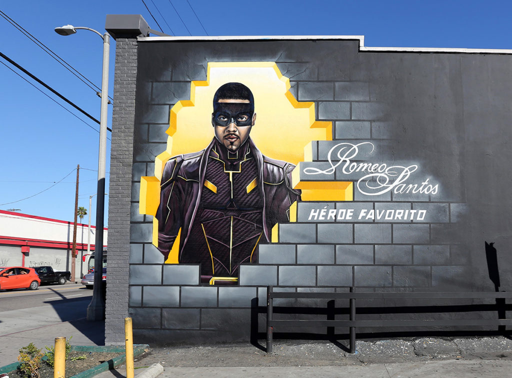 Romeo Santos mural in LA