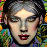 Elle Portrait Art Mural